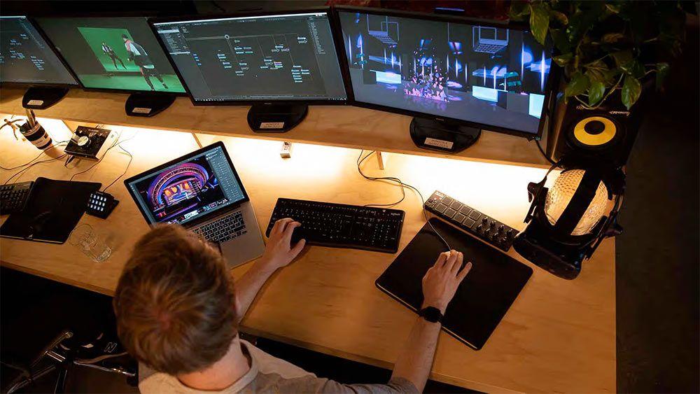Virtual Event Studio Faber Audiovisuals in 2020 Studio
