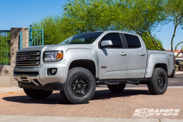 2016 Gmc Canyon With 17 Black Rhino Off Road Alpine In Gloss
