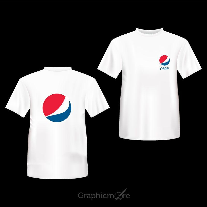 Download Pepsi Company White T Shirt Front Back Side Design Free Vector File Back Frontside Company Companyshirt Company T S Company Shirts Shirts White Tshirt