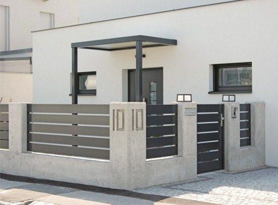 Fachadas de casas con rejas horizontales metalicas casa - Rejas de casas modernas ...