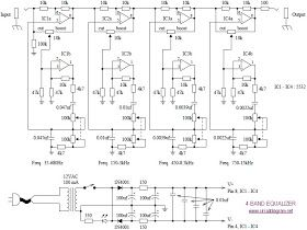 4 Band Equalizer Schematic Diagram Schematic Design Equalizer