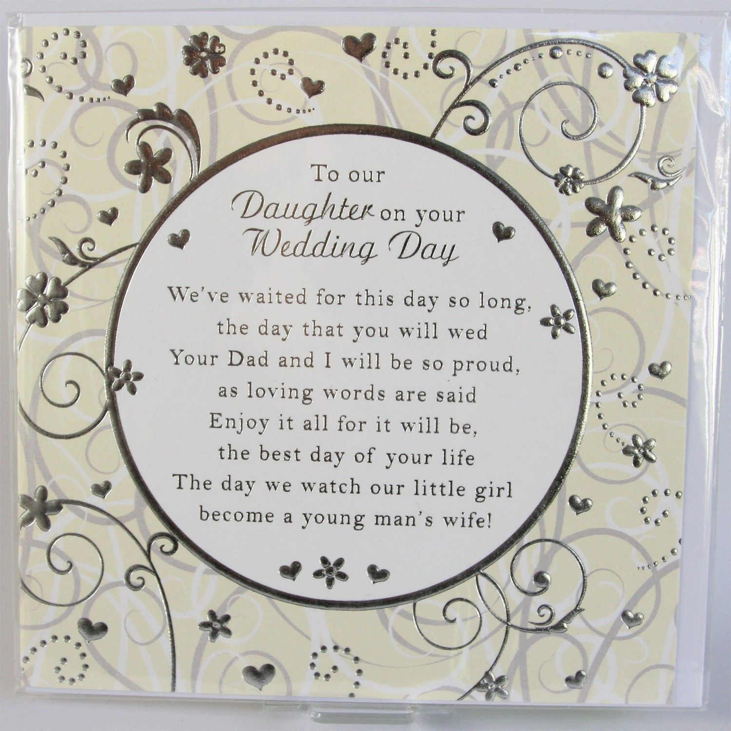 To Our Daughter Card Medium X Wedding Cards With Verses