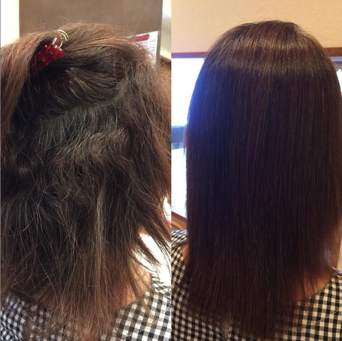 強いくせやウネリでお悩みの方も 雨や汗のベタベタまとまらない髪に キレイ髪ストレート 弱酸性だから 髪に負担をかけず長持ちするのもいいところ 縮毛矯正 ストレートパーマ 柏美容室 髪質改善 髪 ストレート ヘアスタイリング 縮毛矯正