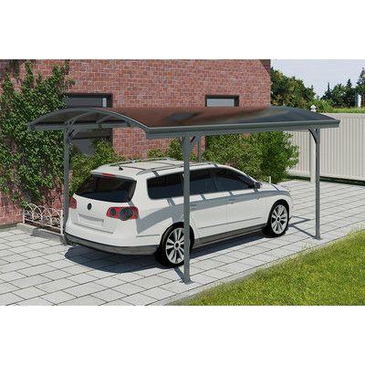 Vitoria 9 5 Ft X 16 5 Ft Canopy Carport Steel Carports Car