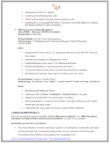 Over 10000 Cv And Resume Samples With Free Download Bsc It Resume Sample Resume Word Doc Words