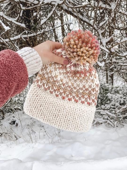470b3162d Knitting Pattern Adult Fair Isle Double Brim Beanie // The Hallowell ...