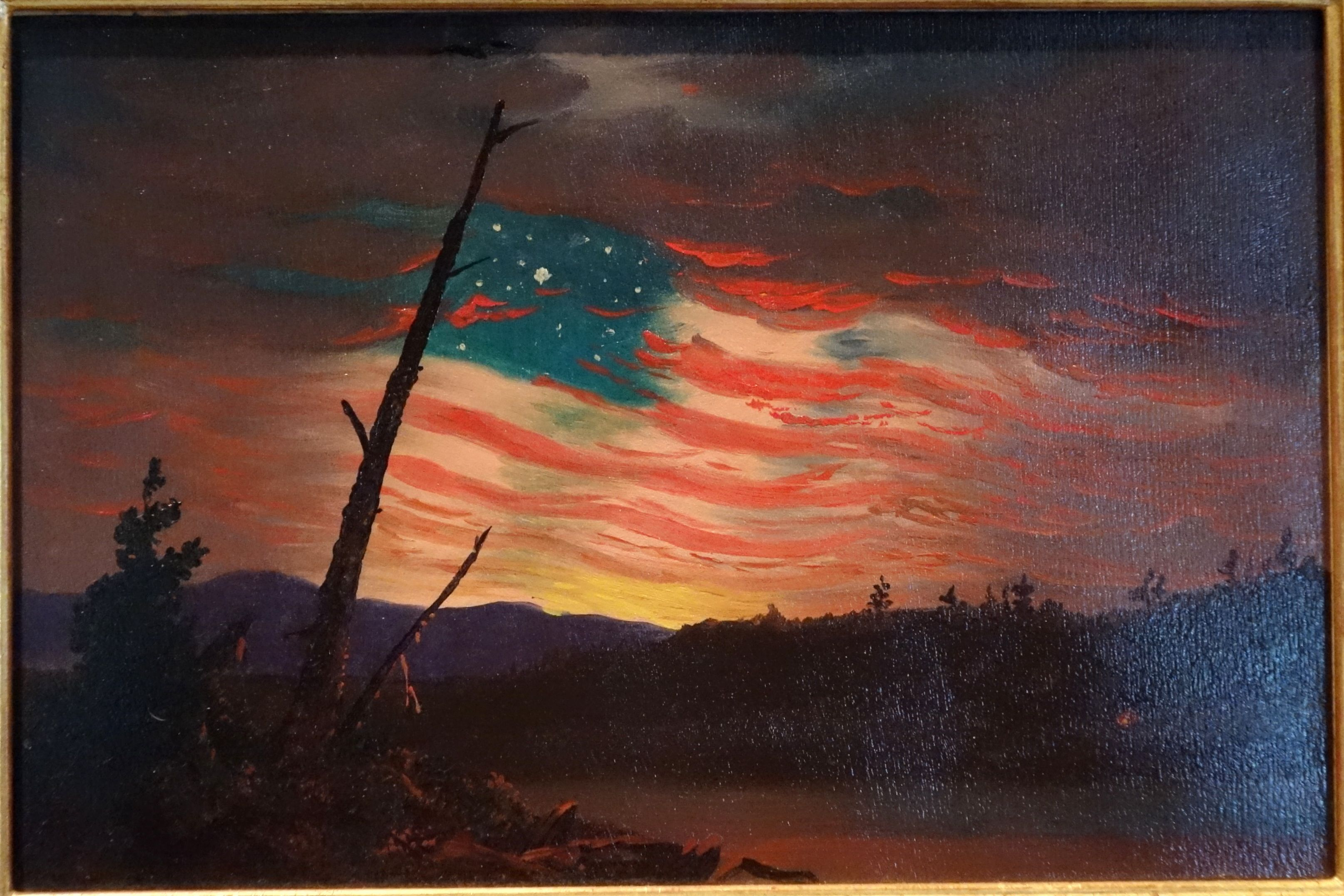 Our Banner In The Sky By Frederic Edwin Church Circa 1861 With