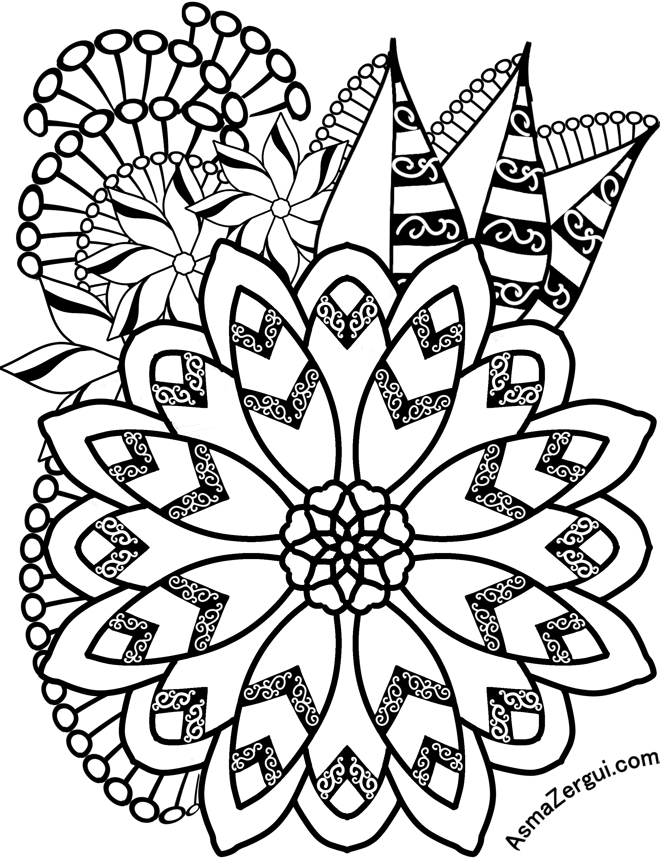 flower27si.png (2300×3000) | Coloring Wish List | Pinterest