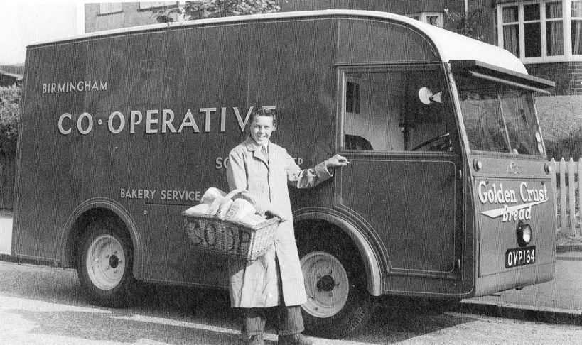 """Found on Birmingham History Forum: """"I worked on one as a bread roundsmans assistant for a short while in the mid fifties. It was based at Stetchford Co-op Bakery and the round I was on was Shard End which meant we had to go over the noisy Bailey Bridge twice a day."""""""