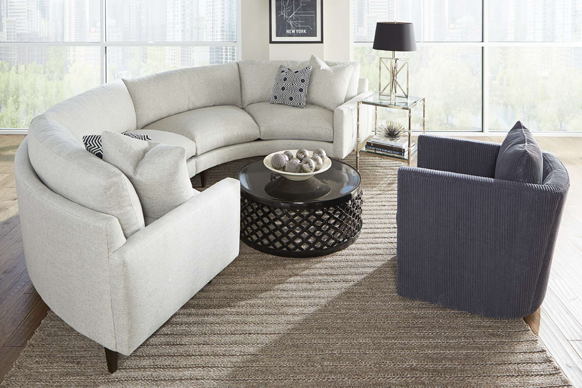 New Curved Oslo Sectional By Rowe Furniture. Unique Comfortable Yet Modern  Design And Can Custom Order In 500 Fabrics!