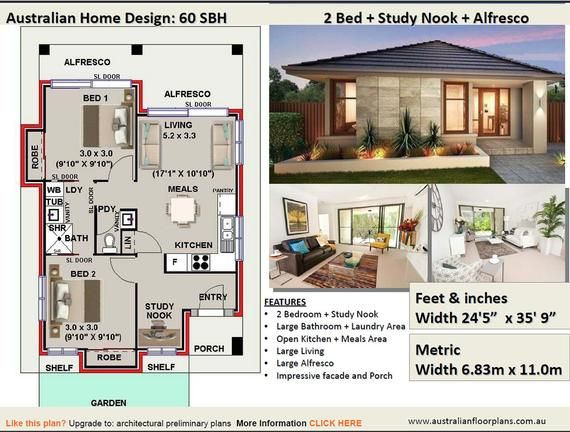 1 And 2 Bedroom House Plans Book Small Houses Granny Flats Design Book House Plans Small House Plans House Plans Australia House Plans Australia Container House Plans Small House Design