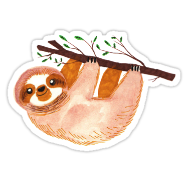 A cute simple watercolor design of a sloth • also buy this artwork on stickers apparel phone cases and more