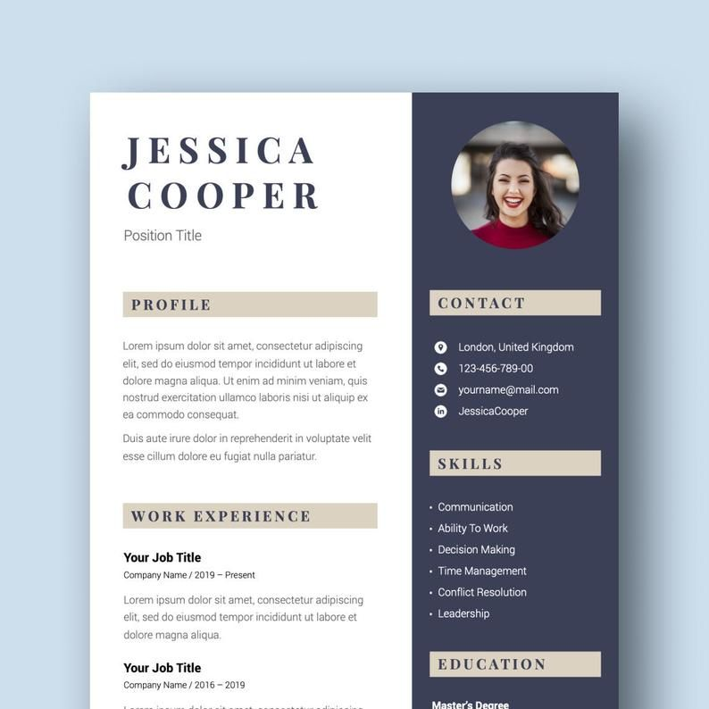 Executive resume template cv template for word finance