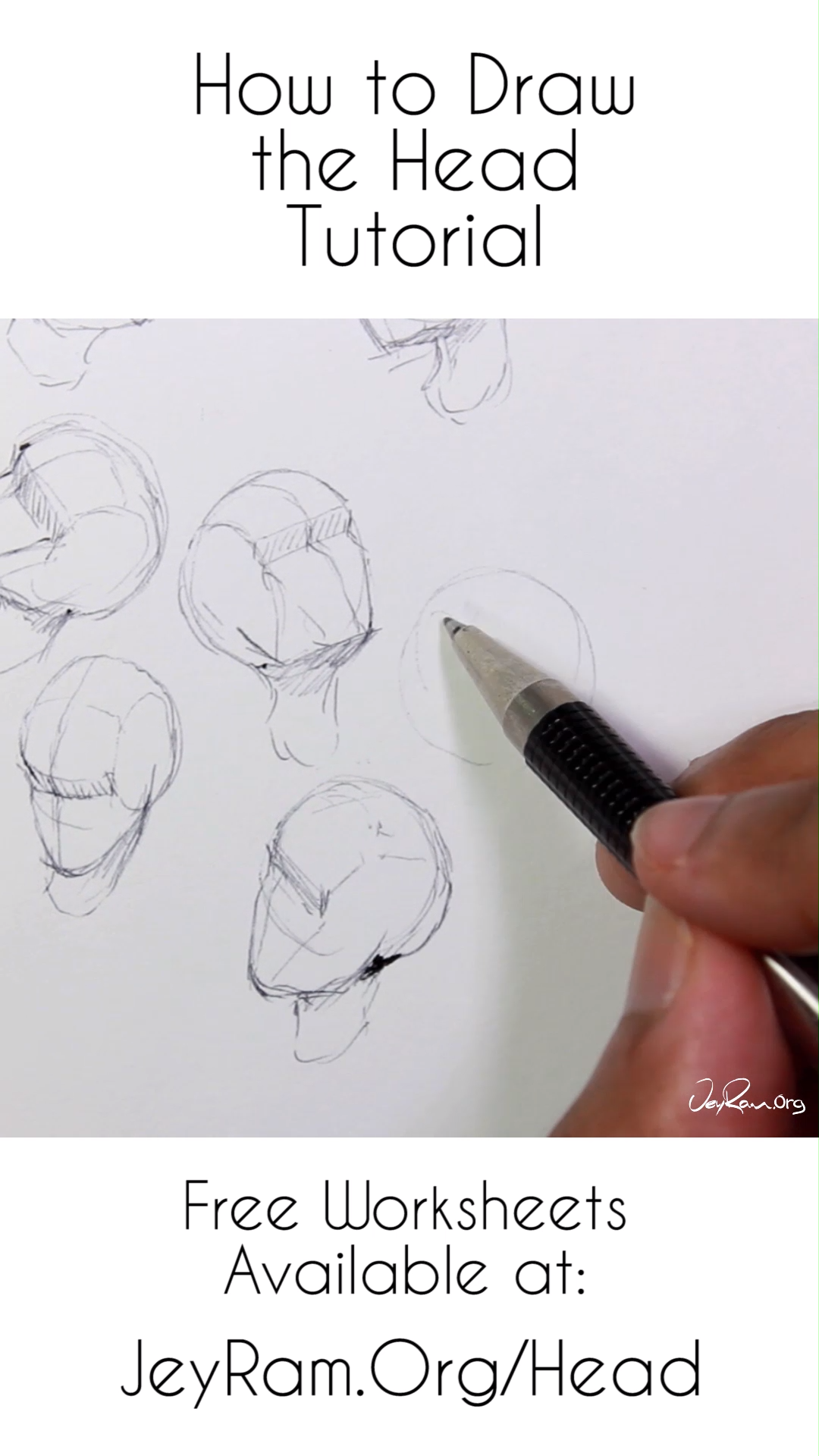 How to Draw the Head from Any Angle PDF Worksheets: Step by Step Tutorial