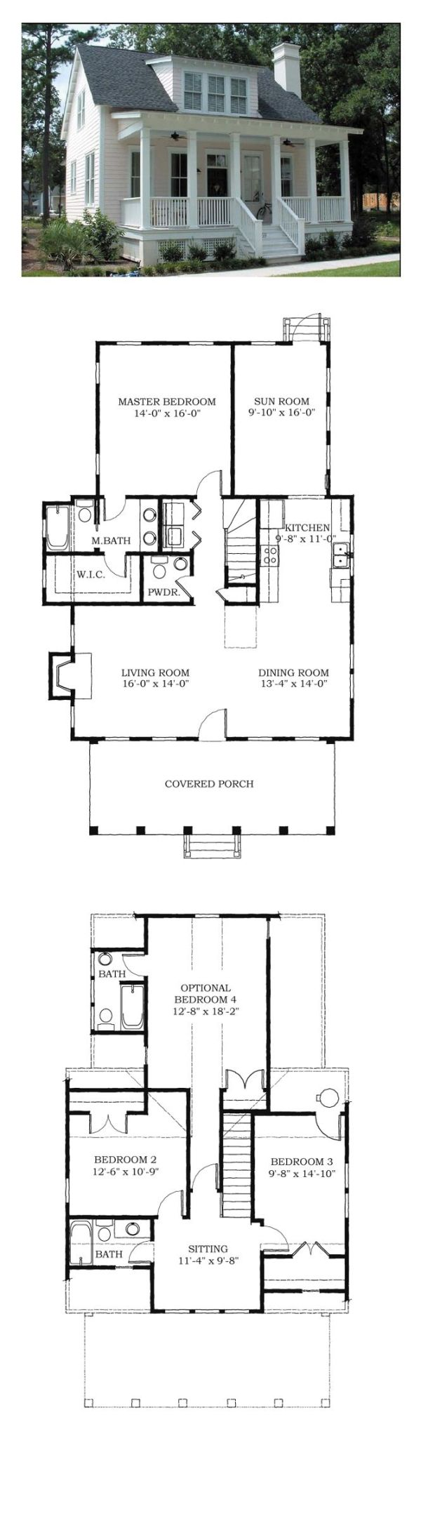 Cool House Plan Id Chp 38703 Total Living Area 1783 Sq Ft 4 Bedrooms And 3 5 Bathrooms Houseplan Carolinahome Best House Plans Small House Lake House