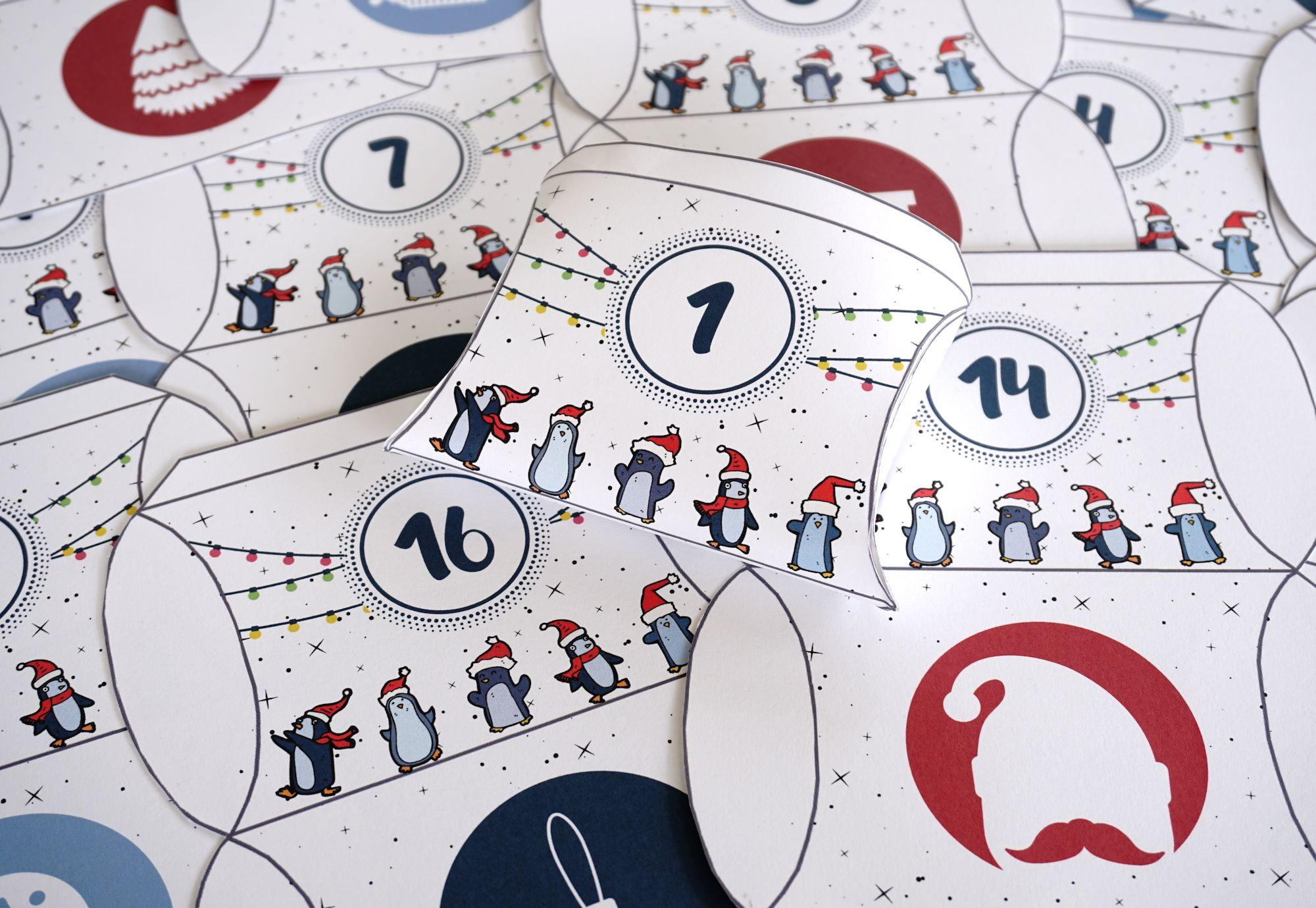 Petites boites à imprimer pour confectionner votre calendrier de l'Avent #calendrierdel#39;aventdiy