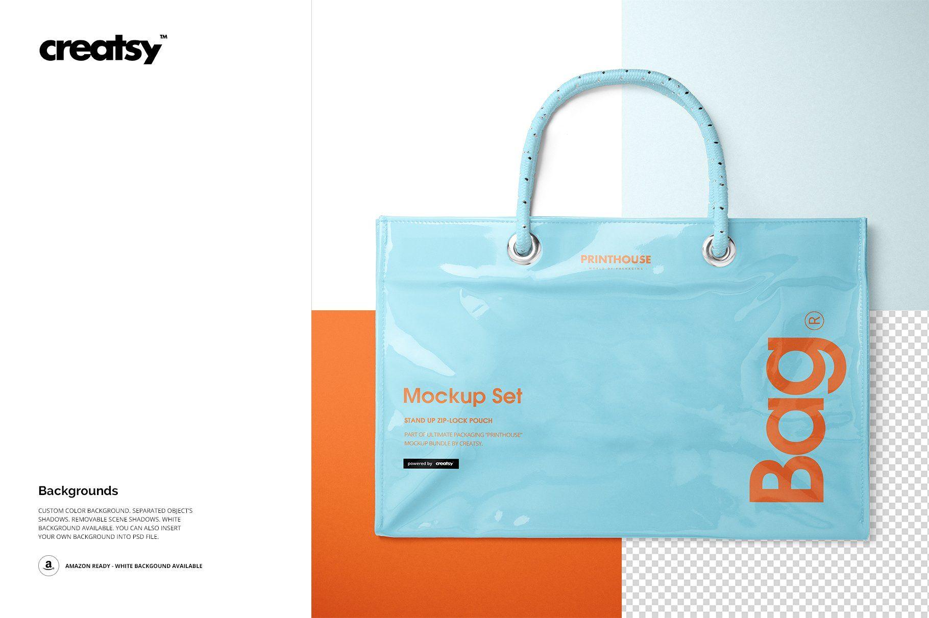 Download Vinyl Pvc Reusable Tote Bag Mockups Bag Mockup Bags Tote Bag