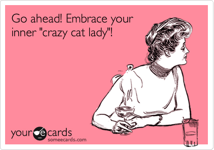 Funny Birthday Ecard Go Ahead Embrace Your Inner Crazy Cat Lady