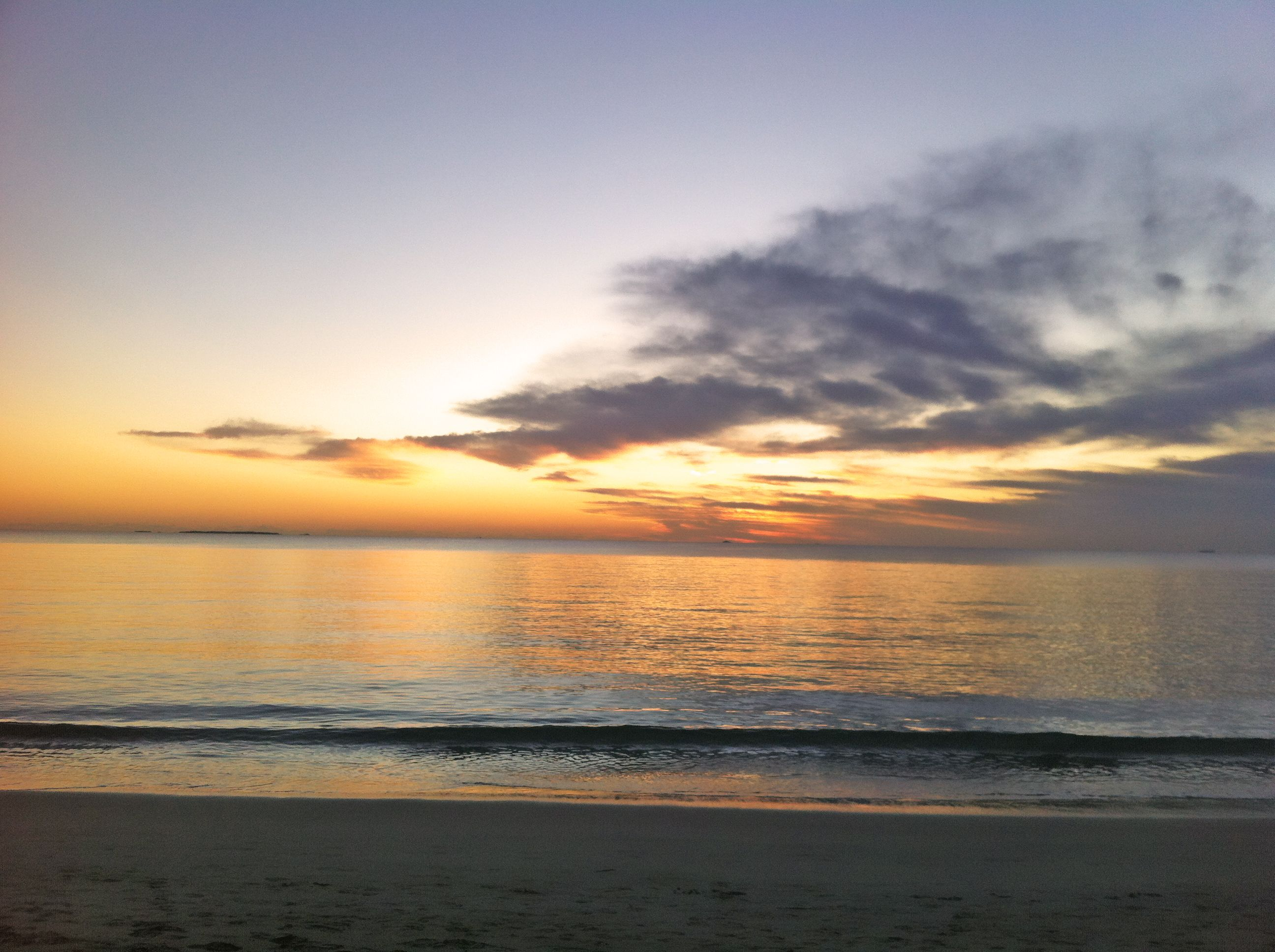 Just after sunset at Coogee beach, WA \