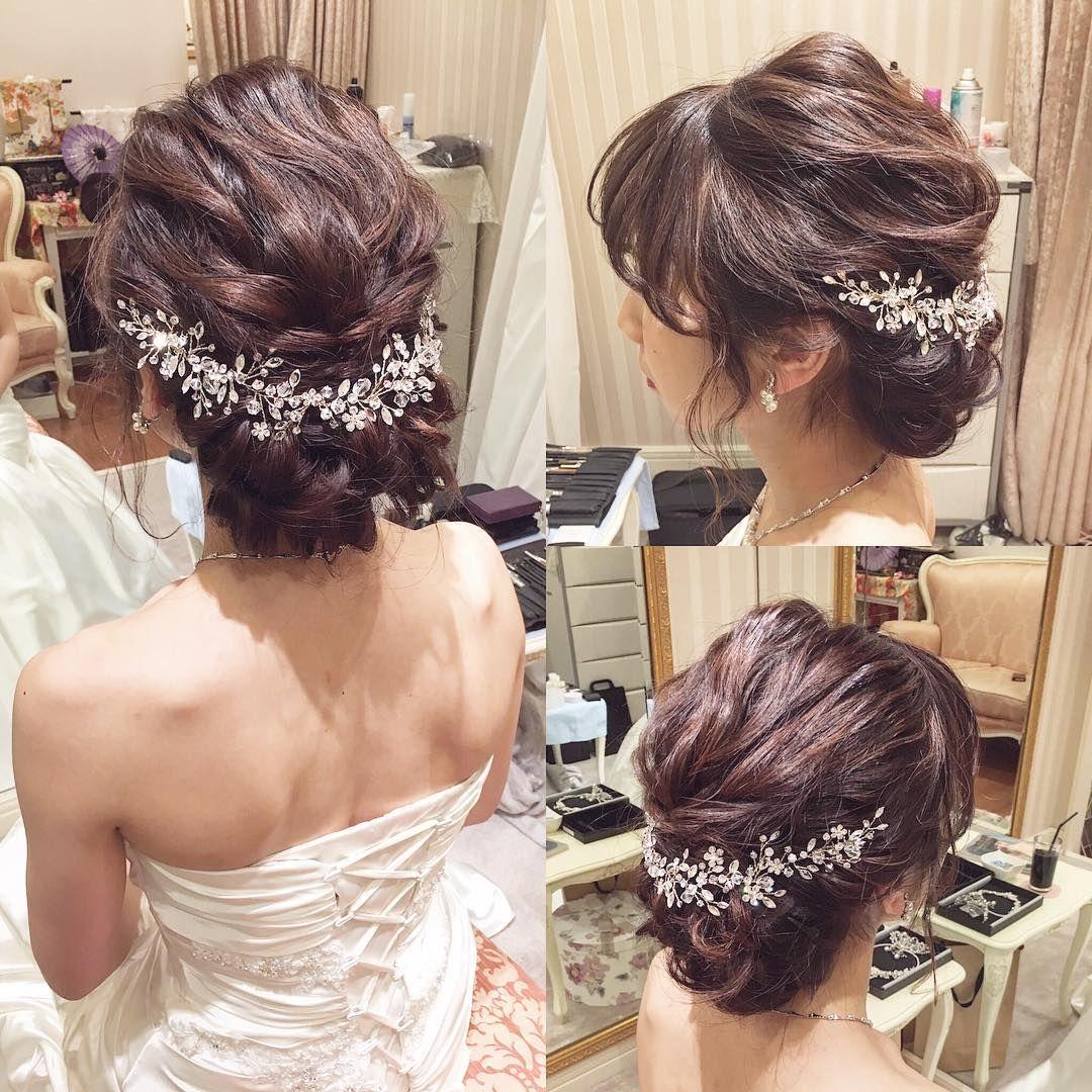 Weddinghair Bridalhairmake ヘッドドレスが可愛すぎる こう