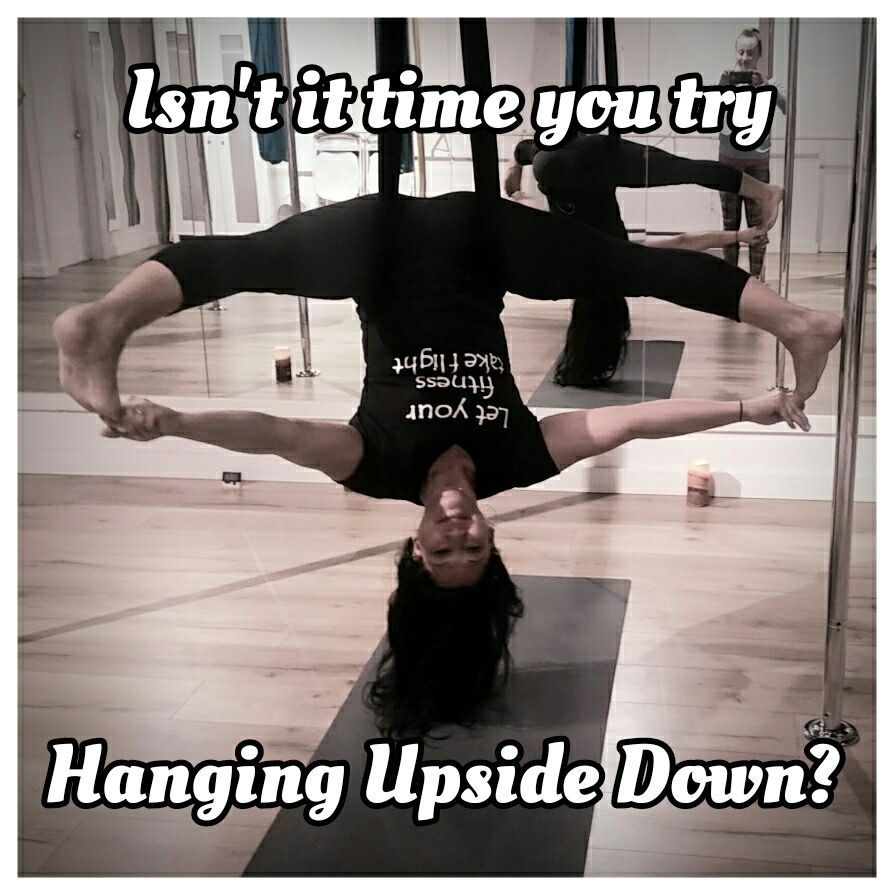 Want To Know The Best Part Of Aerial Yoga Going Upside Down