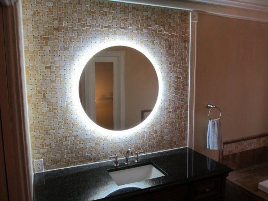 Oval Mirror Led Lights Magnifying Makeup Light