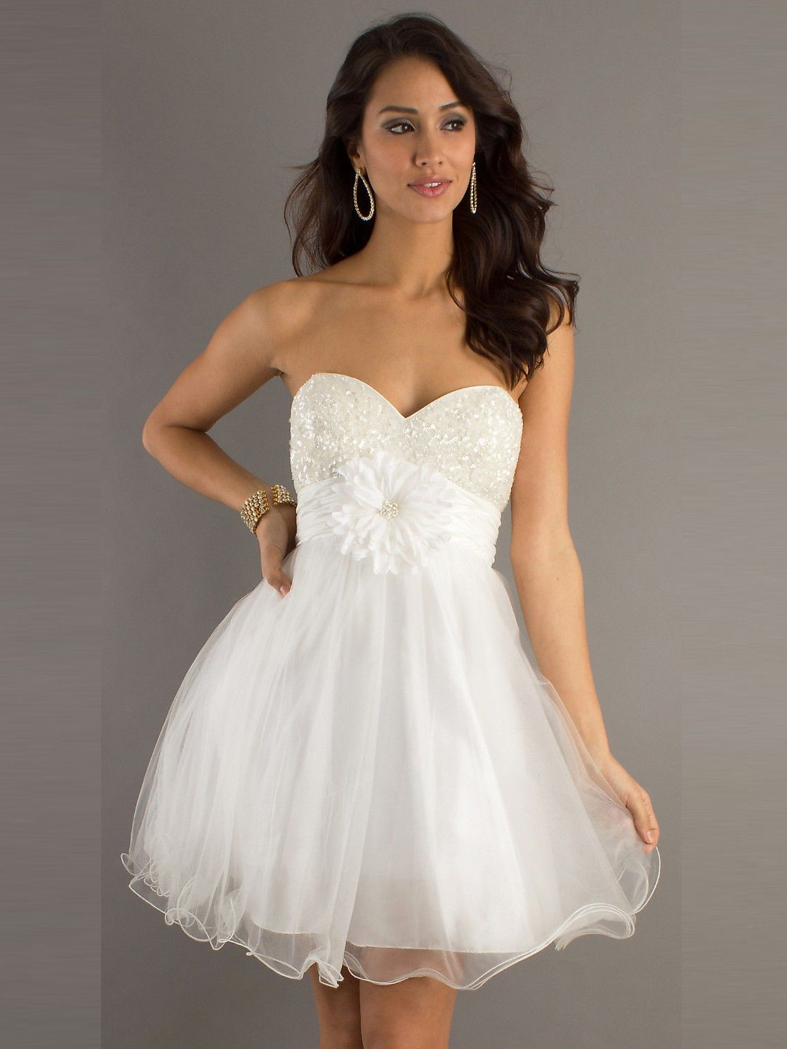 A line Absorbing aBest Selling Beautiful Sweetheart Short Organza ...