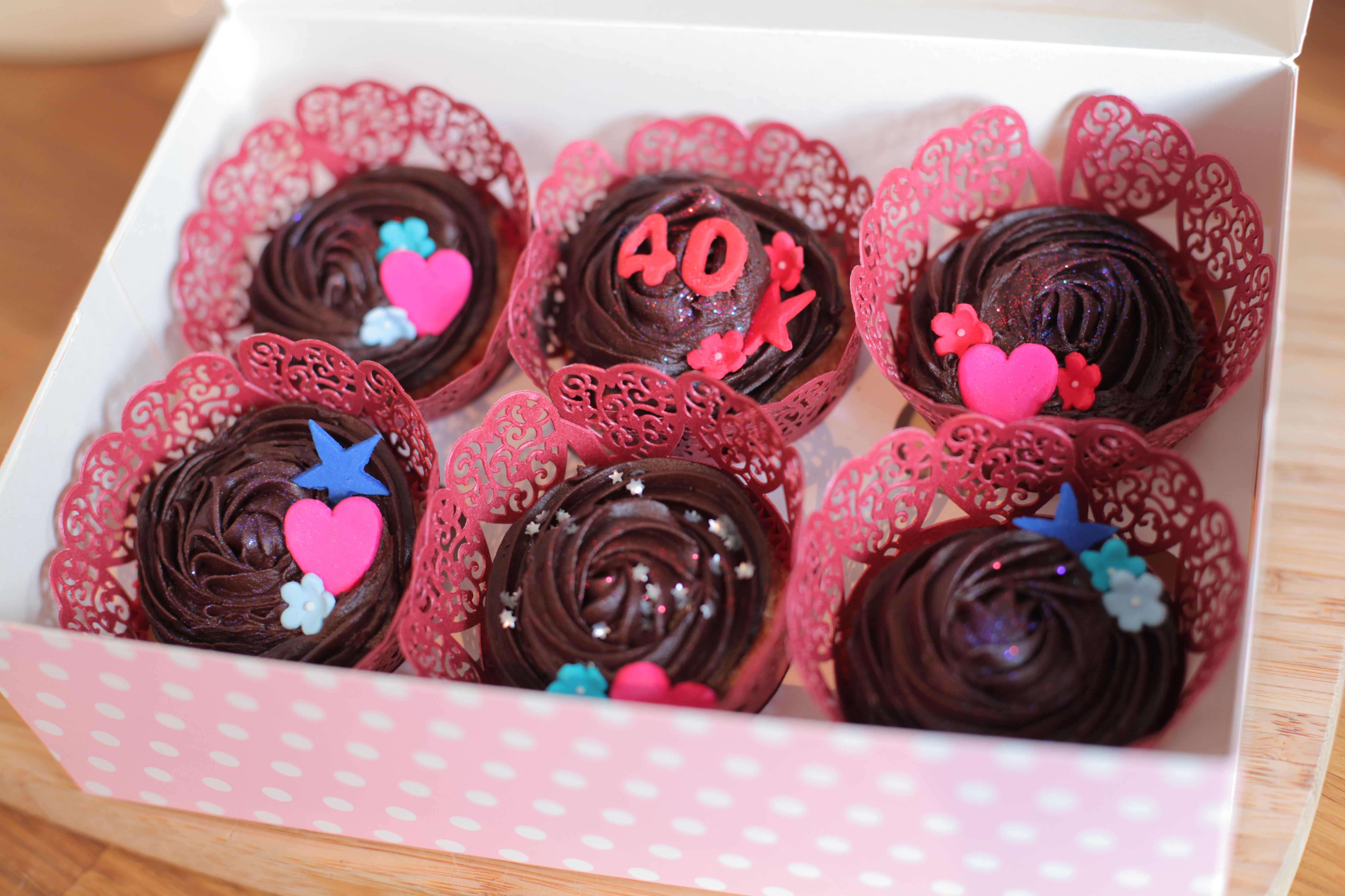 Ruby wedding anniversary cupcakes   Delicious   Pinterest ...