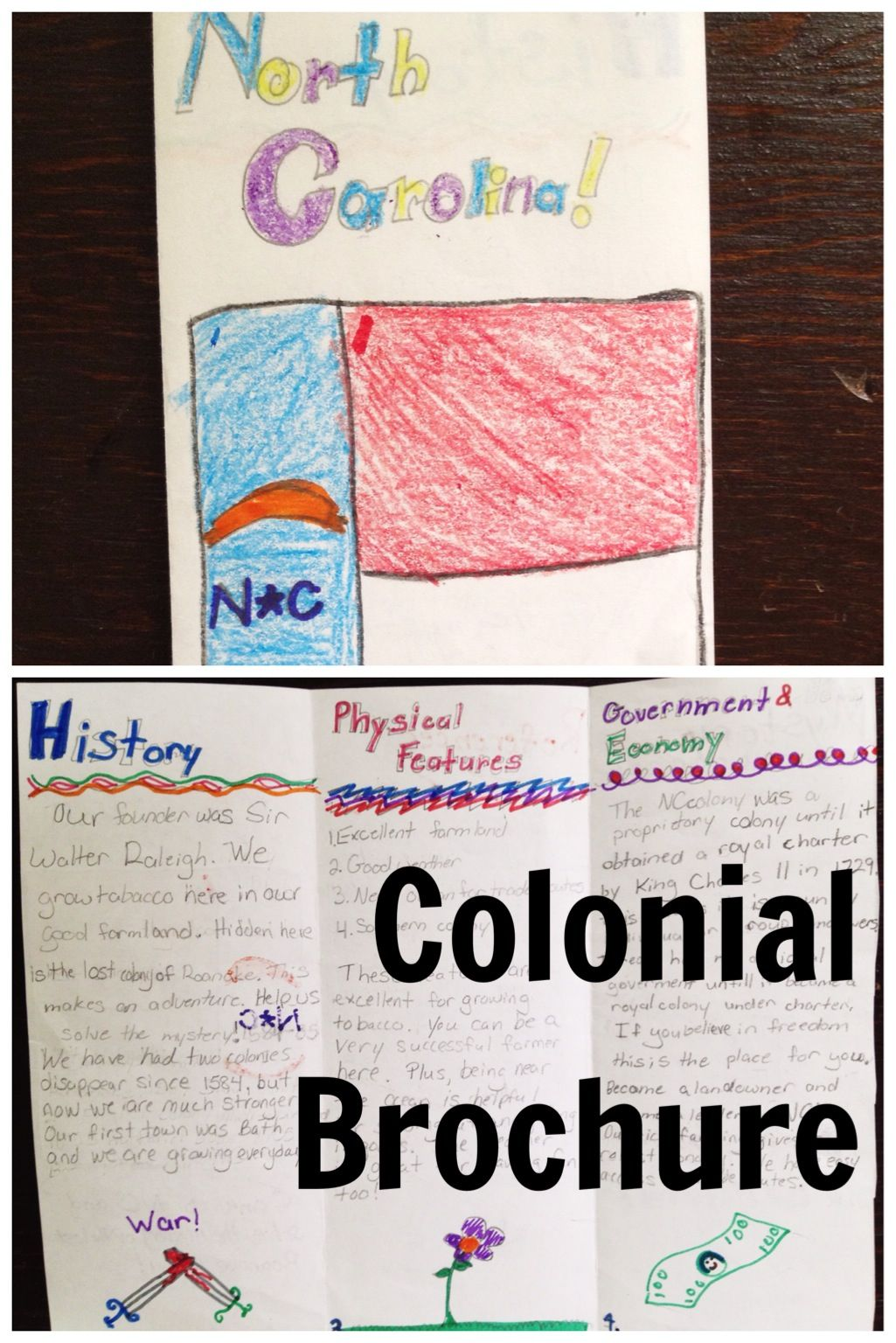 Colonial Brochure Project 5th Grade Pinterest Colonial