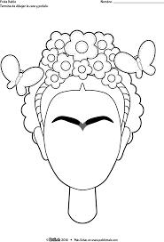 Dibujo Frida Kahlo Para Pintar