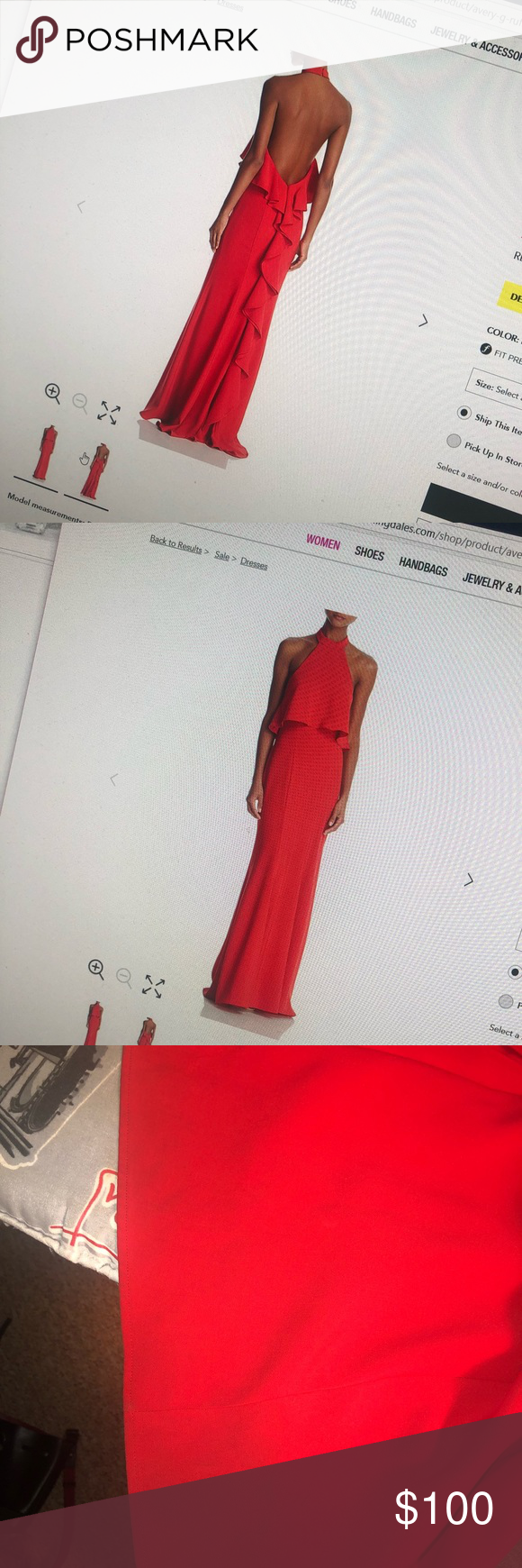 Avery G Bloomingdales Red Formal Gown Red Formal Gown Formal Gowns Bloomingdale Dresses [ 1740 x 580 Pixel ]