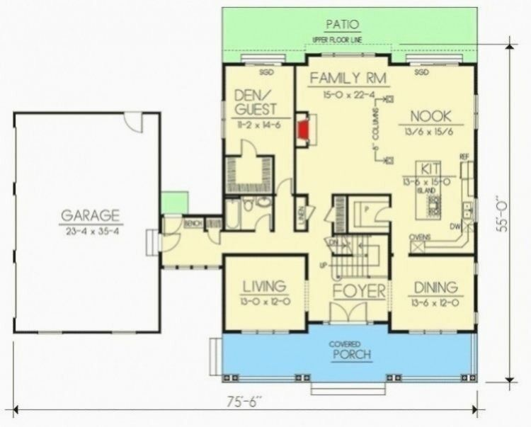 5 Bed Craftsman With Semi Detached Garage Dd Architectural Designs House Plans