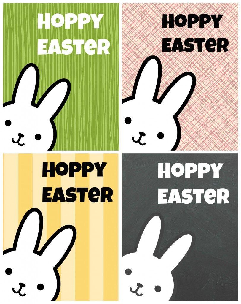 Hoppy Easter Bunny Printables