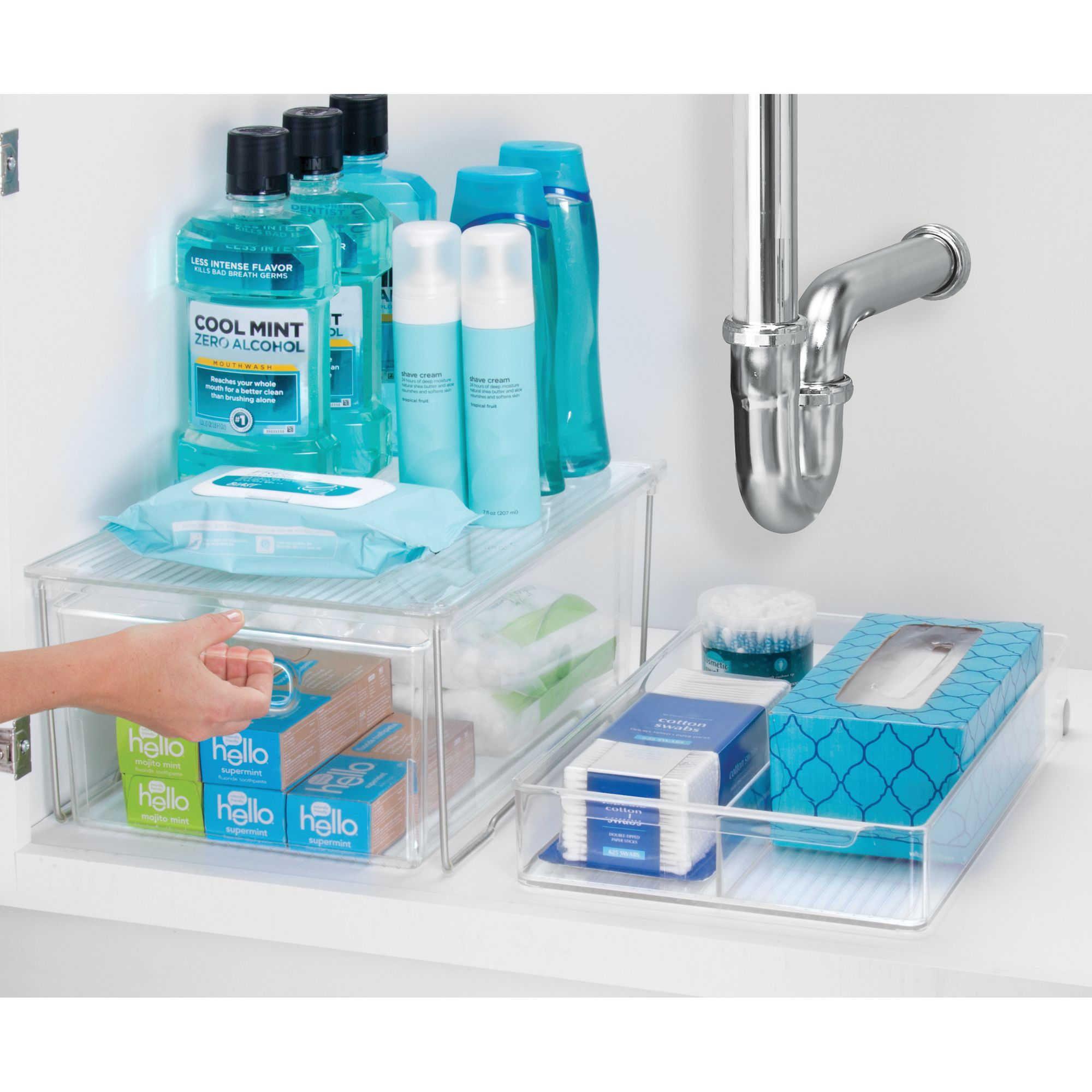 Idesign Clear Undersink Shelf Bed Bath Beyond Diy Bathroom Storage Bathroom Organisation Bathroom Organization