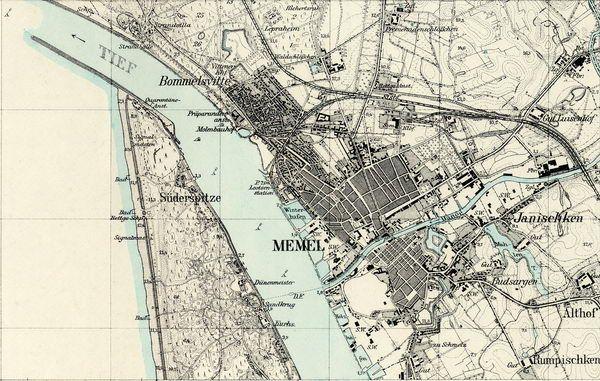 Klaipda 1939 Klaipda 125000 mastelio Messtischblatte 1939 city