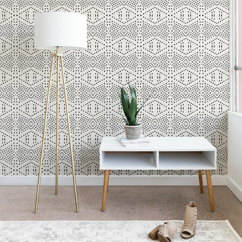 Tile Matte Smooth Peel And Stick Wallpaper Roll Reviews Allmodern In 2021 Boho Tiles Peel And Stick Wallpaper Tile Wallpaper