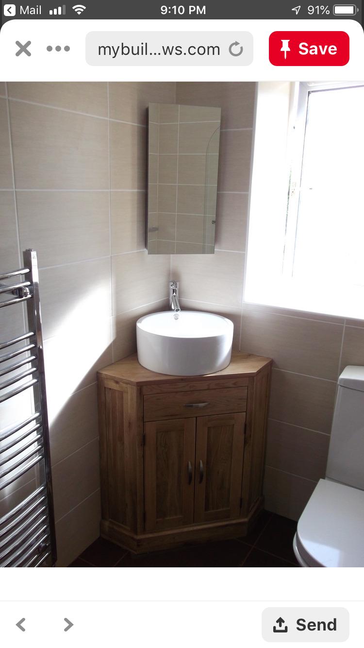 Pin By Frandy Spmak On Dream Home Corner Bathroom Vanity