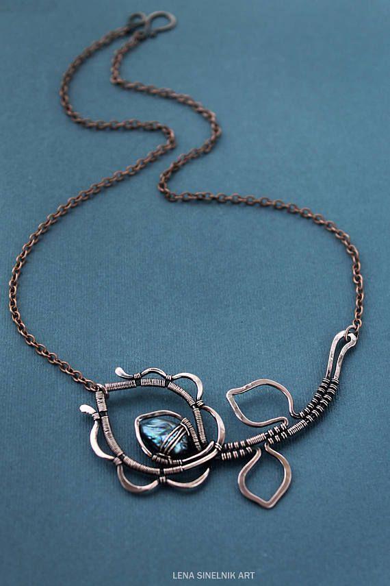 Fluorite pendant Wire wrapped Gemstone pendant Wire wrap necklace ...