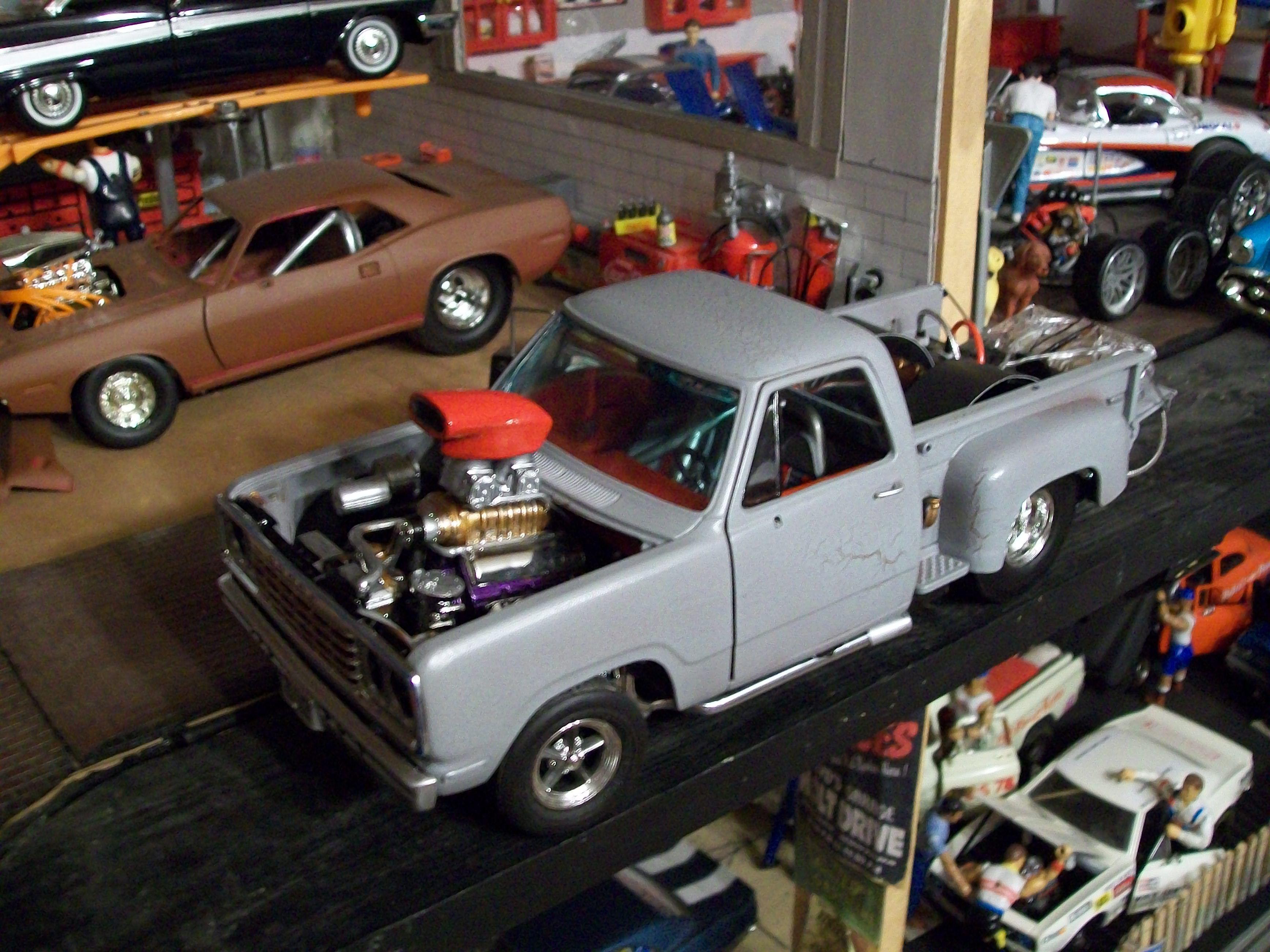 custom made drag truck dioramas 118 custom diecast