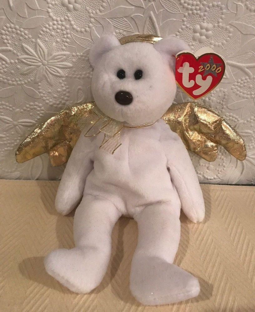 TY HALO II the ANGEL BEAR BEANIE BABY 2000 ca304261a826