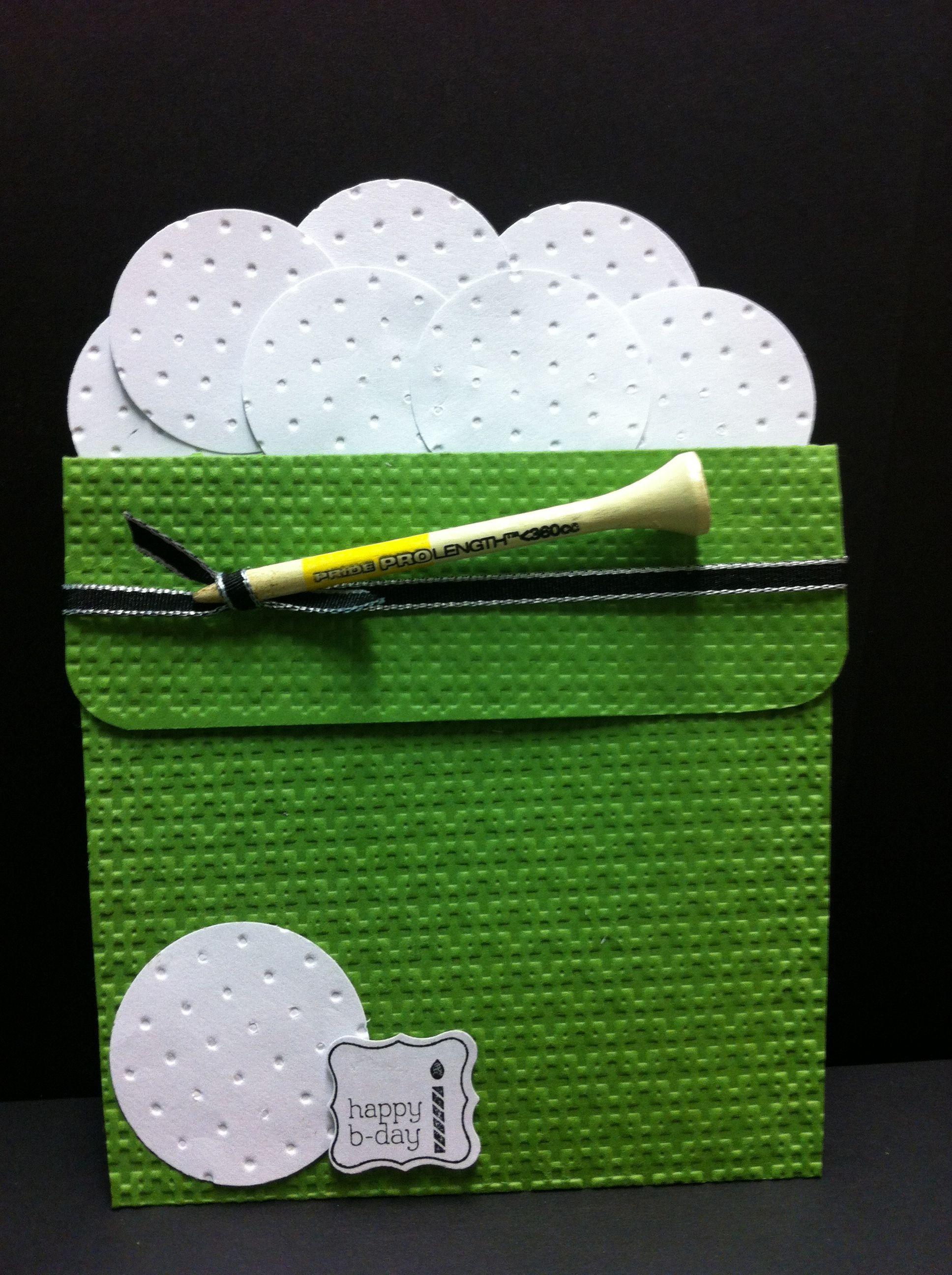 Golf Bucket Flower Pot Card Laura S Card Cards Pinterest