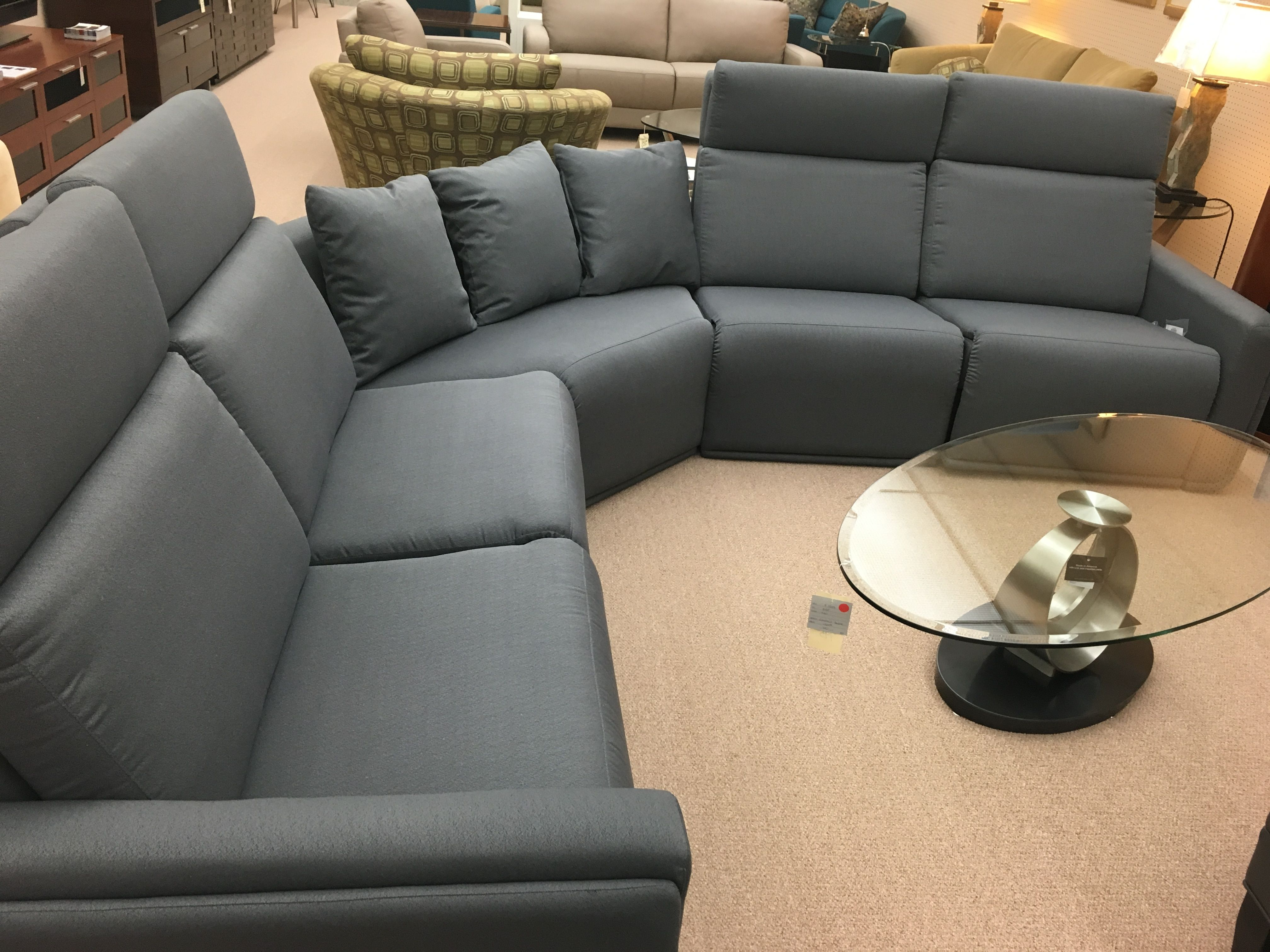 Alto Fabric Sectional With Wedge By Jaymar. Adjustable Headrest, Full  Footrest. From Ellis Brothers Furniture Store.