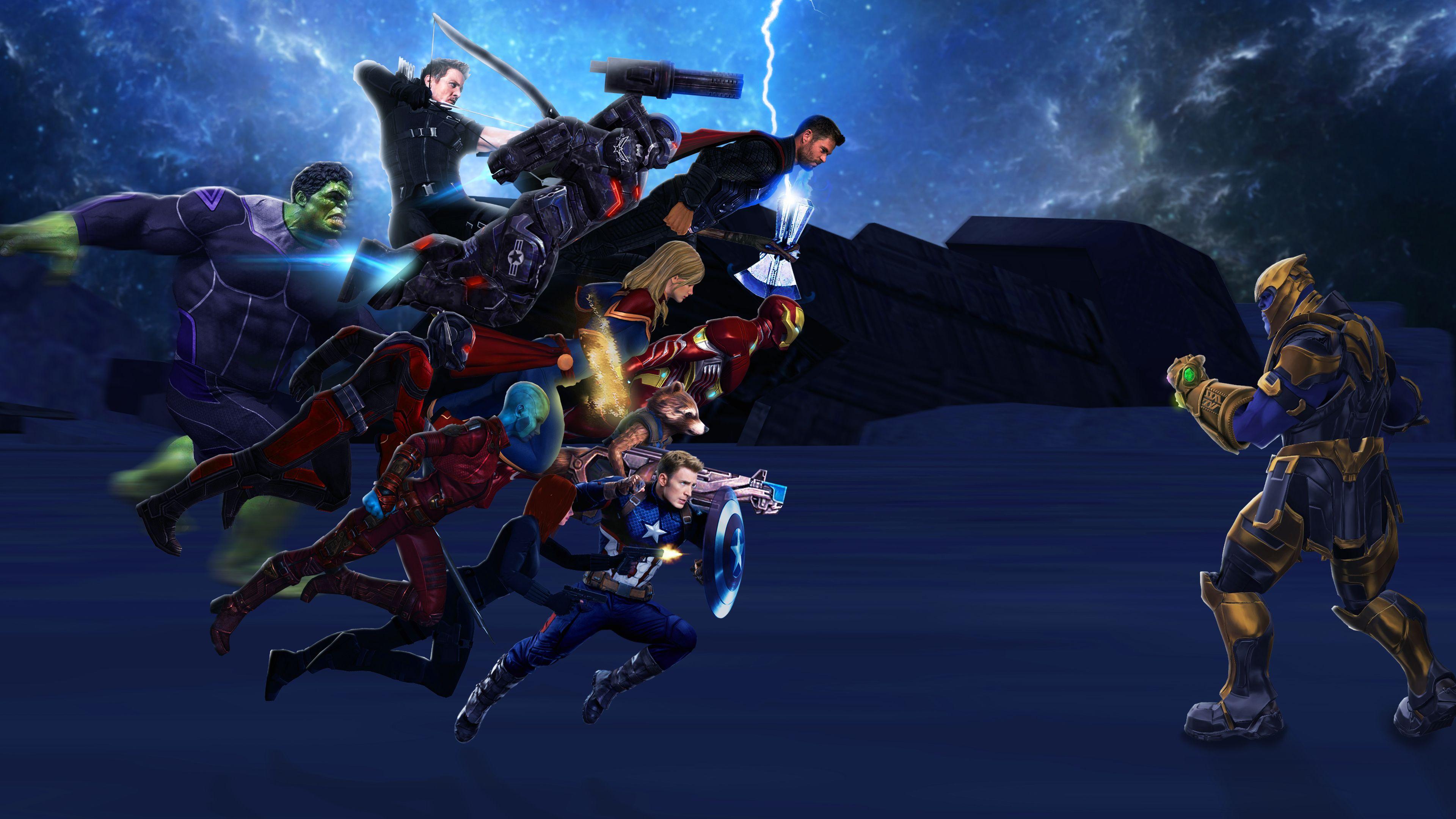 Avengers Endgame 4k Art Superheroes Wallpapers Movies Art