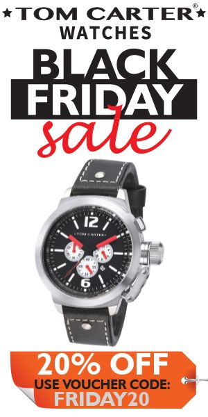 Black Friday Sale Save 20 On Tom Carter Watches
