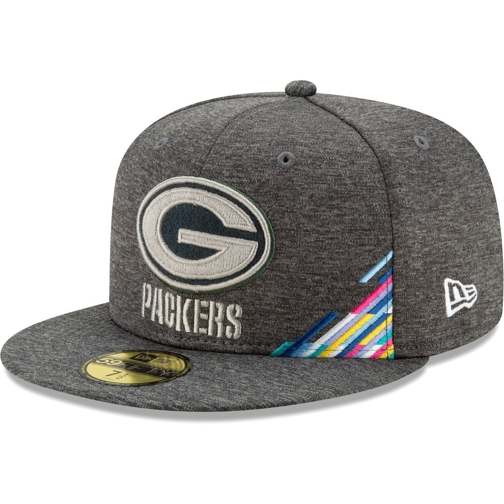 Men S New Era Heather Gray Green Bay Packers 2019 Nfl Crucial Catch 59fifty Fitted Hat Green Grey Green Bay Packers Logo Hats For Men