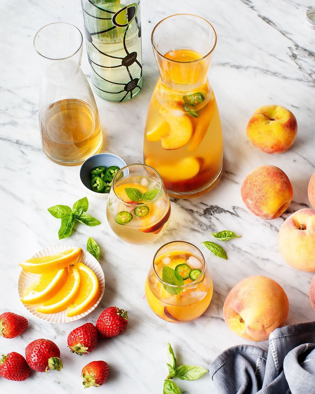 If live gives you bad wine, make sangria!⁣ ⁣-⁣ ⁣Food Styling: @loveandlemons⁣ ⁣⁣ ⁣⁣ ⁣#eccodomani #sipboldly #happyhour #cocktail#drinks#drink #thirsty #mixology#cocktails #sangria #peach #raspberry #summer #summerdrinks #peachsangria #strawberrysangria #rosesangria #sangriarecipe #pinterestrecipe #pinterest % #pinterestrecipe