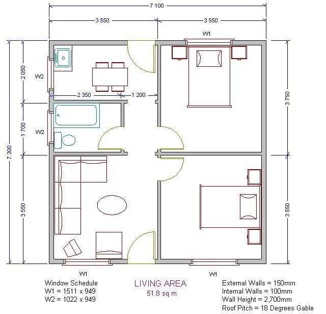 Low Cost Cluster Housing Low Cost House Plans House Floor Plans Two Bedroom House Design