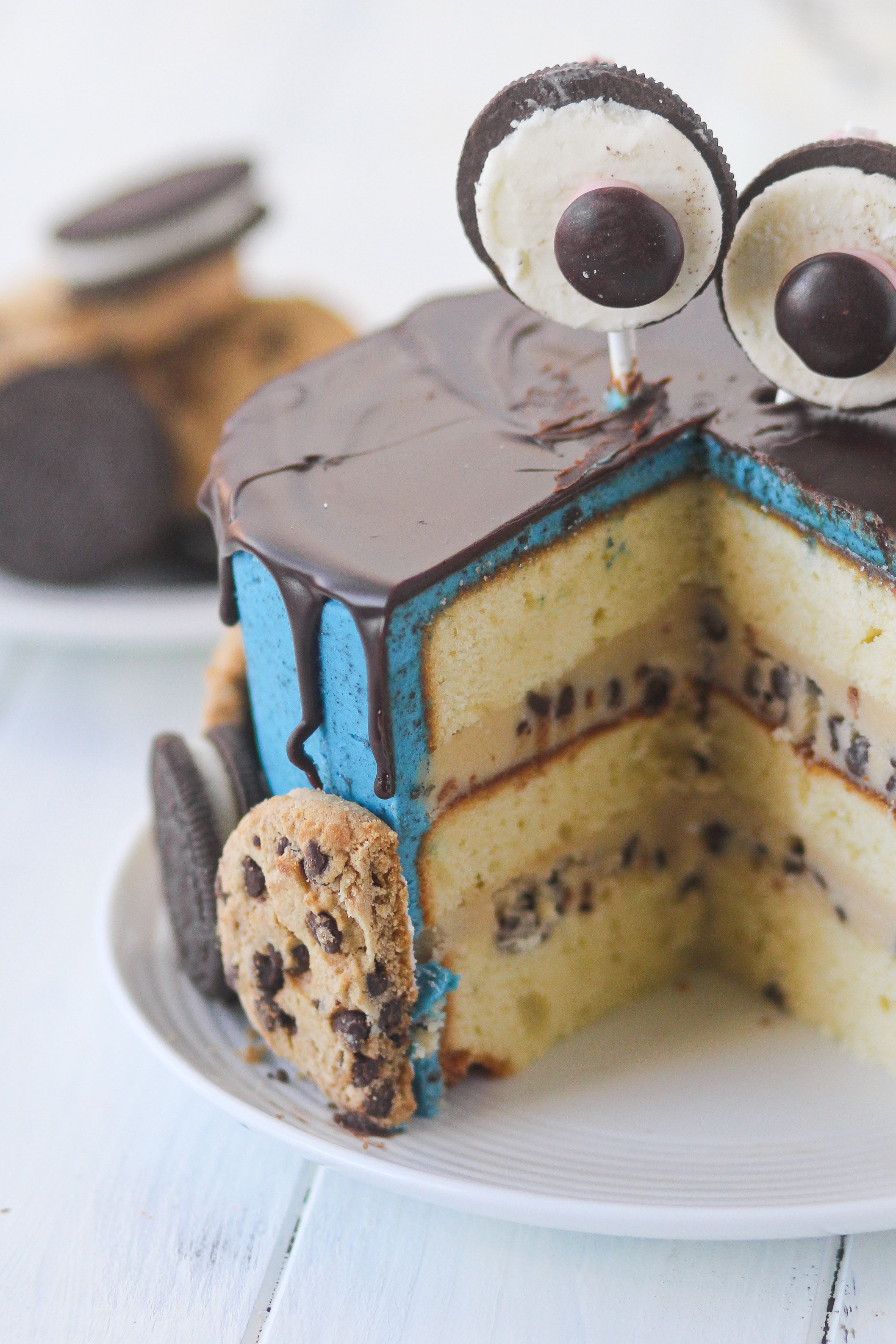 Cookie monster cake confessions of a cookbook queen
