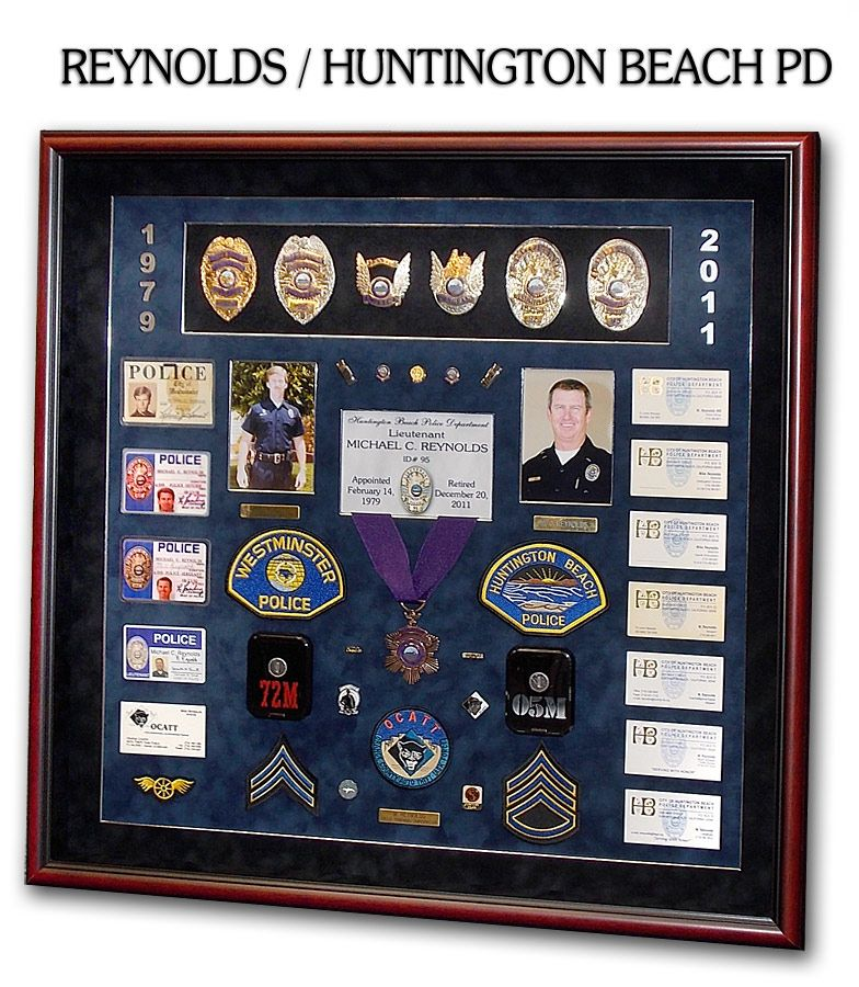 Police Shadowboxes from Badge Frame  Reyonlds / Huntington