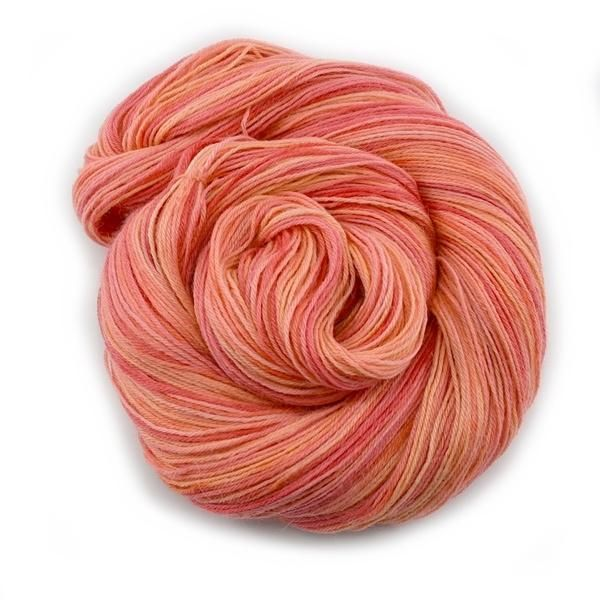 Apricot Hand Dyed 4ply Baby Alpaca Yarn | Shop Wool Online